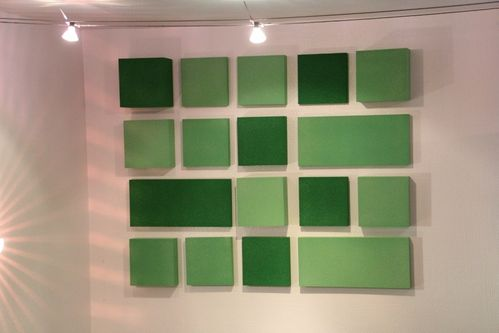 Green-Slice-Absorber-Set, Melaminschaum aus Basotect mit farbigem Coating